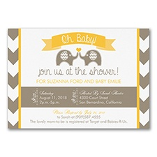 Oh Baby - Baby Shower Invitation